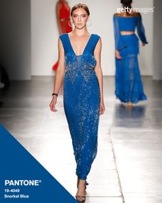 Snorkel Blue makes an appearance in Australian Evening & Bridal Wear: Fashion by @gettyimages #Pantone #FashionColorReport #SS16 #NYFW
