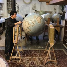 Bellerby & Co Globemakers, London   Handcrafted and Hand Painted Terrestrial & Celestial World Globes I www.bellerbyandco.com