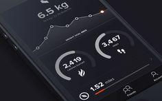 Dark iphone app ui fitness tracking goals