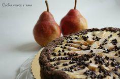 Crostata ricotta e pere con pasta frolla al cacao