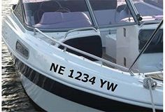 PEARL WHITE RED Boat Registration Numbers Or PWC Decals Stickers - Custom houseboat vinyl numbers