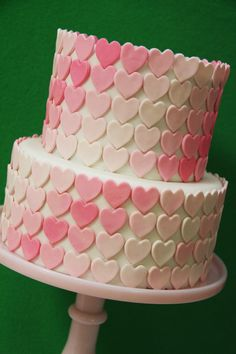 Ombre Heart Swirl Cake How-To ~ video tutorial