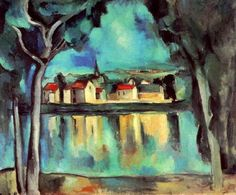 La Cuisine (Intérieur) Maurice de Vlaminck, mainly self taught, is best known today for his Fauvism period--a span of no more than seven years.