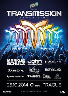 Utazz a Sound of Cream-es szervezőkkel Prágába, Közép-Európa legnagyobb trance rendezvényére, a Transmission 2014-re!  További infók a www.partyweb.hu oldalon!  #Transmission #party #busz