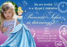 Cinderella Invitations Princess Cinderella by 954onlineinvitations