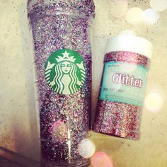 #diy #glitter project! #starbucks #doityourself #project #craft
