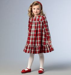 Sewing patterns for fashion clothing, crafts and home decorating. Dress sewing patterns, evening and prom sewing patterns, bridal sewing patterns, plus costume and cosplay sewing patterns. Toddler Christmas Dress, Girls Christmas Dresses, Toddler Dress, Kids Christmas Outfits, Christmas Sewing, Kids Dress Wear, Little Girl Dresses, Girls Dresses, Mode Batik