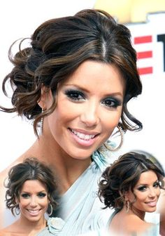 Eva Longoria  Updo with loose curls