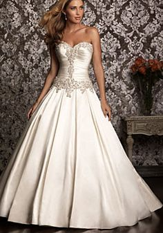 Fully Ruched Fitted Bodice Detailed Wedding Dress picture 1