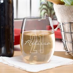 Mom's day will be perfect when she settles in with her favorite glass of vino in this engraved stemless wine glass. Our personalized wine glasses are great unique gifts for Mom that she will love to use. Wine Glasses For Sale, Custom Wine Glasses, Personalized Wine Glasses, Personalized Gifts, Personalized Wedding, Unique Gifts For Mom, Wine Down, Stemless Wine Glasses, The Ordinary