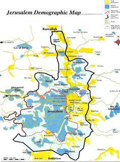 Risultati immagini per demographic jerusalem map