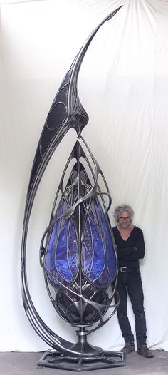 Giant kinetic, organic shaped metal sculptures by Patrice Hubert