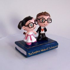 3. Something handmade  #modcloth #wedding  Not my actual cake topper, but something similar from the same artist.  ""