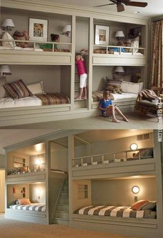 Awesome bunk beds are awesome.