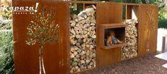Klik voor volgende foto Garden Screening, Laser Cut Metal, Corten Steel, Dream Garden, Ladder Decor, Outdoor Living, Shed, Backyard, Fire