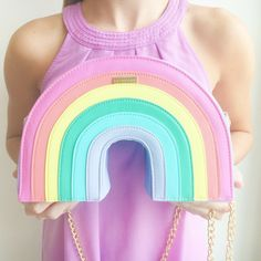 Pastel Rainbow Cross Body Bag by Skinny Dip London Cute Purses, Purses And Bags, Pastel Backpack, Cute Mini Backpacks, Novelty Bags, Pastel Outfit, Kawaii Accessories, Accesorios Casual, Girls Fashion Clothes