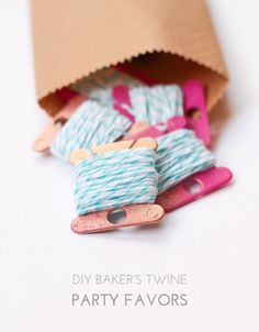 DIY Baker's Twine Party Favors