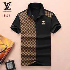 Louis Vuitton POLO shirts men-LV61818A