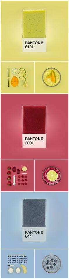 Pantone Smoothies #diseño #design #pantone #smoothies