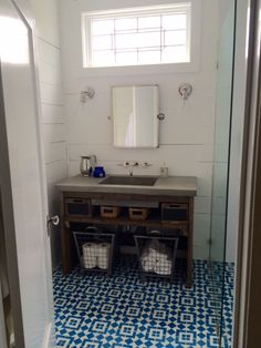 Love the shiplap and the Cement Tile: Granada Tile in Fez!