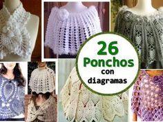 26 magníficos ponchos de ganchillo/crochet - Manualidades Y DIYManualidades Y DIY