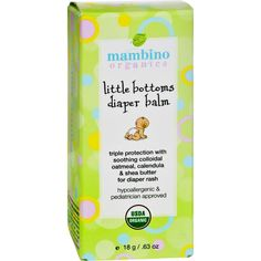 """This highly effective, 100% natural balm is specially formulated for delicate baby's skin that suffers from diaper rash and prickly heat. It keeps your little one dry and comfortable by creating a moisture repellent barrier. Our triple protection formula with colloidal oatmeal works in the same way as zinc oxide without leaving a messy residue on the skin. Great """"first-aid in a stick"""" for the entire family. Hypoallergenic and pediatrician approved ; cloth diaper safe too! Benefits…"""