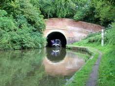 Braunston Canal Tunnel on the Grand Union Canal in Northamptonshire