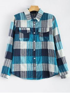 GET $50 NOW | Join RoseGal: Get YOUR $50 NOW!http://www.rosegal.com/blouses/flap-pockets-plaid-shirt-779881.html?seid=1424208rg779881