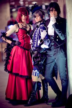 Black Butler- Madam Red, Ciel and Sebastian