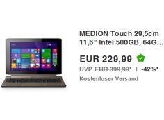 """Ebay: Convertible Medion Akoya P2214T Touch für 229,99 Euro frei Haus https://www.discountfan.de/artikel/technik_und_haushalt/ebay-convertible-medion-akoya-p2214t.php Mit dem Medion Akoya P2214T Touch bietet der Aldi-Lieferant bei Ebay heute als """"Wow! des Tages"""" ein Convertible für 229,99 Euro frei Haus an. Das Gerät kommt mit einem Hybrid-Speicher: 500 GByte Festplatte und 64 GByte Flash-Speicher sind verbaut. Ebay: Convertible Medion Akoya P... #Convertibl"""