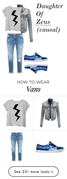 """Daughter Of Zeus (Causal)"" by lost-demigods on Polyvore featuring Frame Denim, Vans and LE3NO"