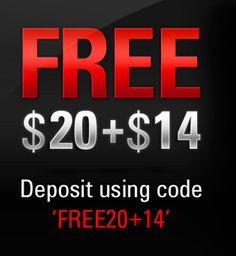 FREE20+14 at PokerStars