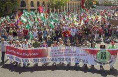 'Marchas por la Dignidad' rodean varios parlamentos autonómicos contra los recortes