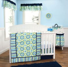 Medallion crib bedding