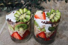 Strawberry Kiwi Oatmeal Parfaits
