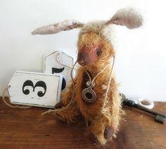 Whimsical Artist Mohair Soft Teddy Bear by ReTeTeer on Etsy