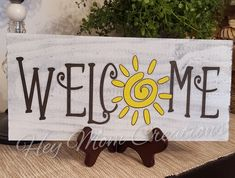 Welcome sign- Wreath sign- Summer sign- Spring sign- Wreath embellishment- Signs-Summer wreath sign Backyard Signs, Patio Signs, Wooden Welcome Signs, Wooden Signs, Pallet Board Signs, Summer Signs, Painted Wood Signs, Spring Sign, Vinyl Signs
