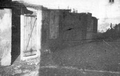 Lodz, Poland, Booths in the ghetto during Sukkot (a Jewish holiday).