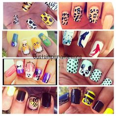 It's Thursday somewhere! #tbt to a few of the manis I've done of different animals/ animal prints :) Only a few days left to enter the contest!! :) Last reminder! Xo!  by justsimplynaildesigns