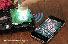 Wireless Digital Microscope for Android + iOS - 1.3 Megapixel Sensor, 200x Zoom