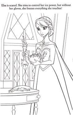 How About Coloring This Awesome Picture From Disney Frozen Movie