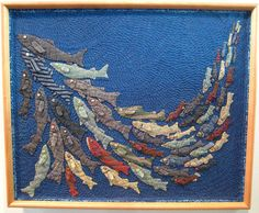 2012 Tokyo International Great Quilt Festival. These fish could also be made out of old neckties!