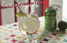 Coconut Ginger Ale — You'll need: Seagram's Ginger Ale, Coconut Rum, ice, fresh lime. In glass add: ice; 1 shot coconut rum; top off w/ Seagram's Ginger Ale. Garnish w/ lime wedge & a colorful straw. Sit back, sip, enjoy! ~ℛ