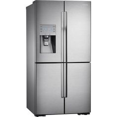 Samsung - 31.7 Cu. Ft. 4-Door French Door Refrigerator with Convertible Zone - Stainless-Steel - Angle Zoom