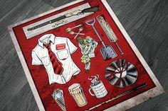 Shaun of the Dead illustrated movie prop poster @ www.TexanGothic.com by Brad Albright