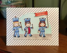 Marching band card using WPlus9 stamp set