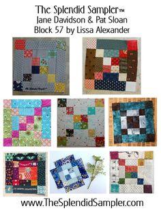 57 Splendid Sampler Lissa Alexander block multi - my block centre row, left