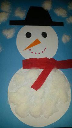 Sneeuwpop met watjes