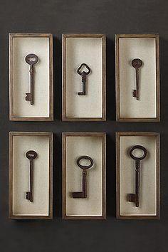 Restoration Hardware Key Shadow Box Collection, $99 each, available at Restoration Hardware.