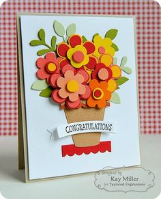 TE Blog Design Team: Congratulations Are in Bloom! Card by Kay Miller #Cardmaking, #Congratulations